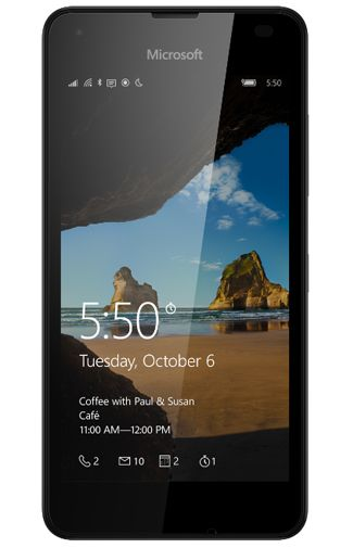 Microsoft Lumia 550 Zwart Aanbiedingen & Abonnementen